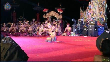 Tari Kebyar Duduk dalam Pagelaran Seni dan Budaya Rakyat Banjar